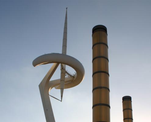 Olympisches Feuer, Barcelona, Spanien