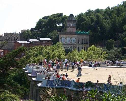Parc Güell, Barcelona, Spanien