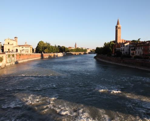 Etsch, Verona, Italien