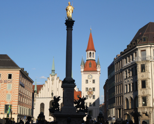 Mariensäule & Altes Rathaus, München