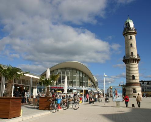 Leuchtturm Warnemünde, Ostsee