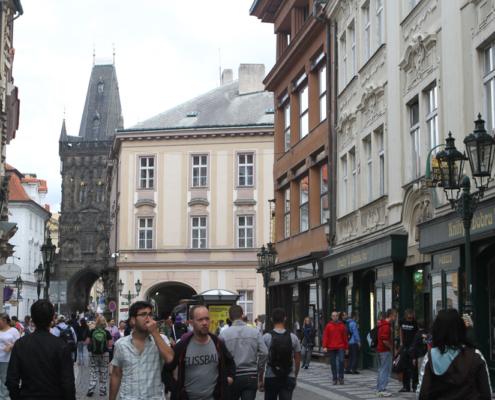 Altstädter Gasse und Brückenturm, Prag