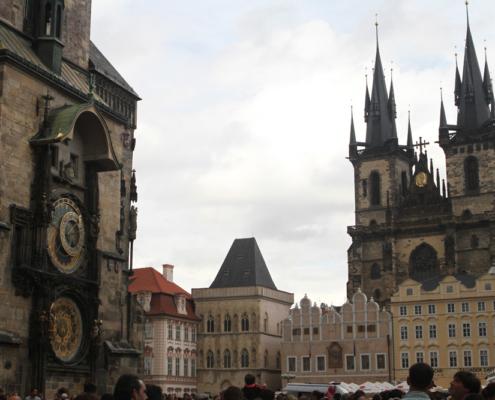Rathausuhr & Teynkirche, Prag