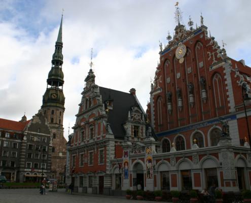Schwarzhäupterhaus & Petrikirche, Riga, Lettland