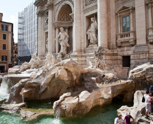 Trevi Brunnen, Rom, Italien