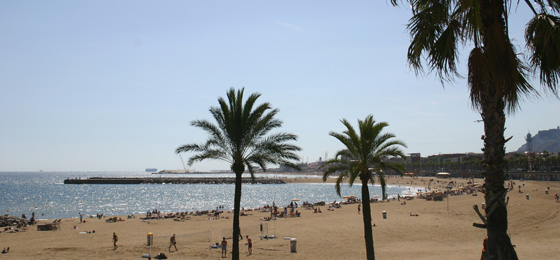 Strand, Barcelona, Spanien