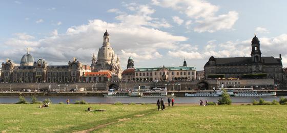 Elbwiesen & Frauenkirche, Dresden