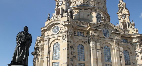 Martin-Luther-Denkmal & Frauenkirche, Dresden