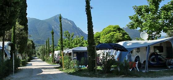 Camping Toscolano, Gardasee, Italien