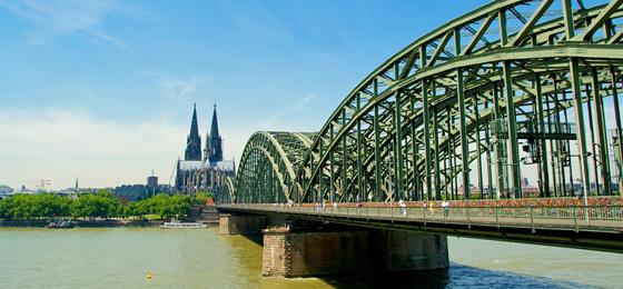 Hohenzollernbrücke & Dom, Köln