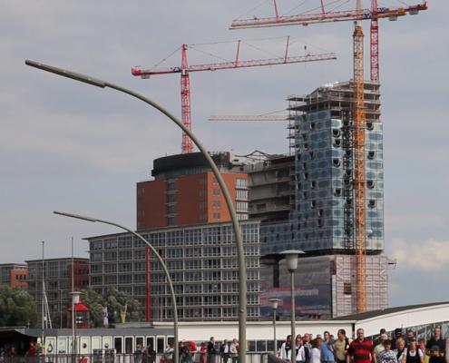 Elbphilharmonie im Bau, Hamburg
